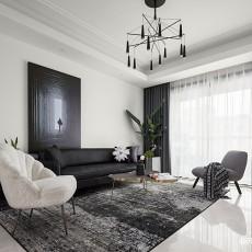 质朴110平现代三居客厅装饰美图
