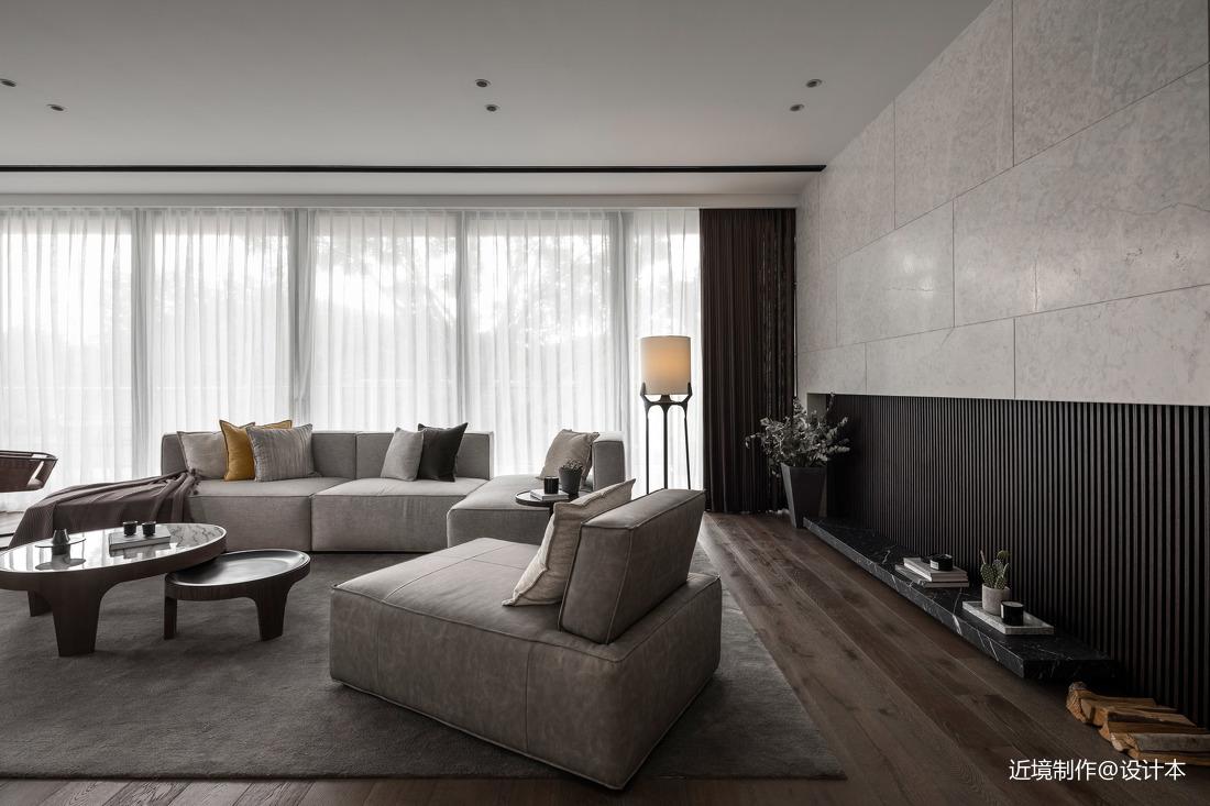 时光・淬炼现代风客厅沙发图片