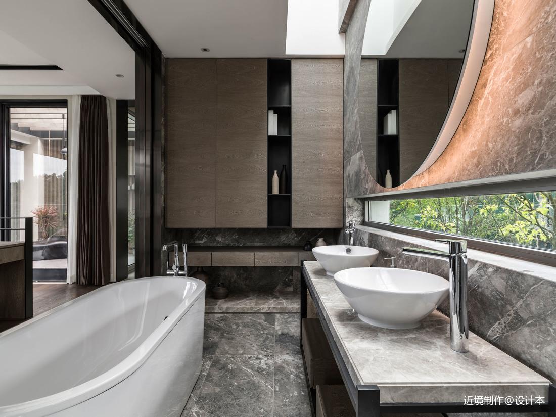 时光・淬炼现代风卫浴洗手台设计