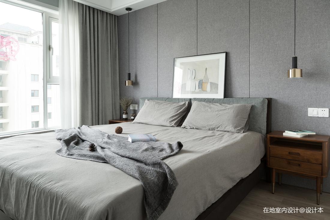 质朴98平北欧三居卧室设计美图