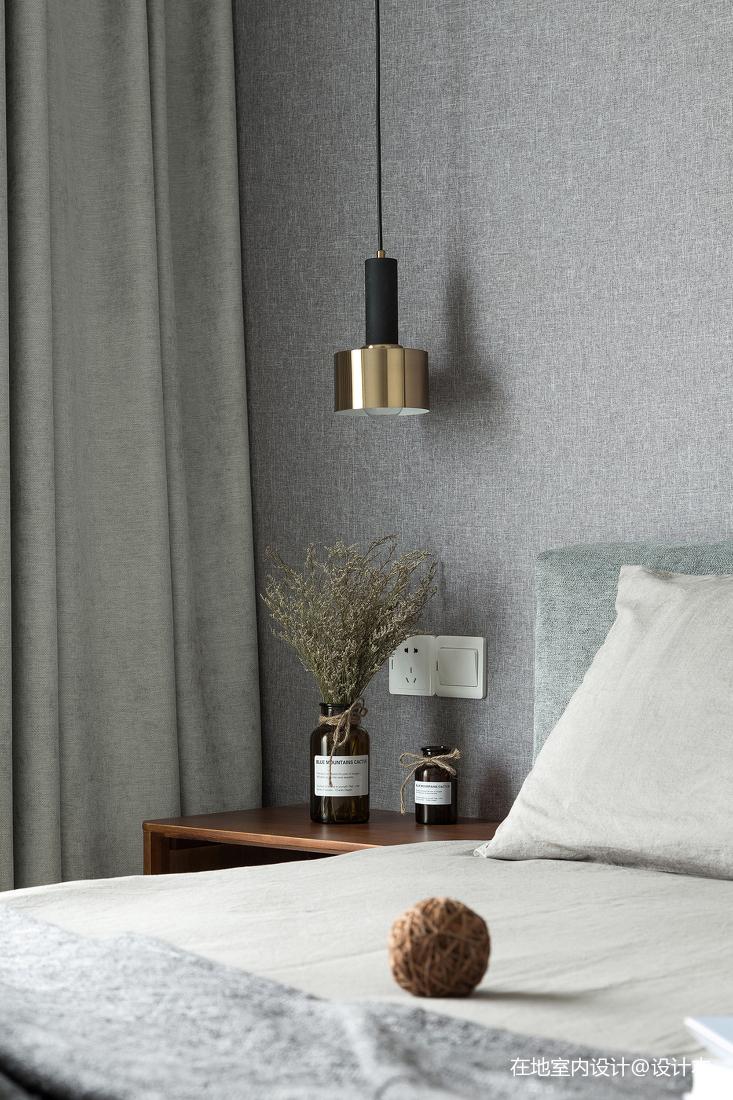 优雅86平北欧三居卧室装修案例