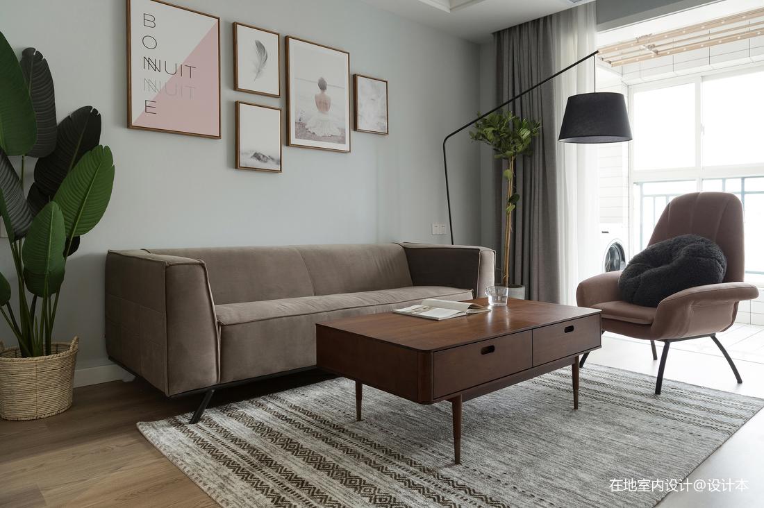 典雅89平北欧三居客厅设计美图