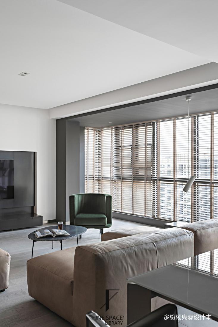 201954平现代复式客厅装饰图