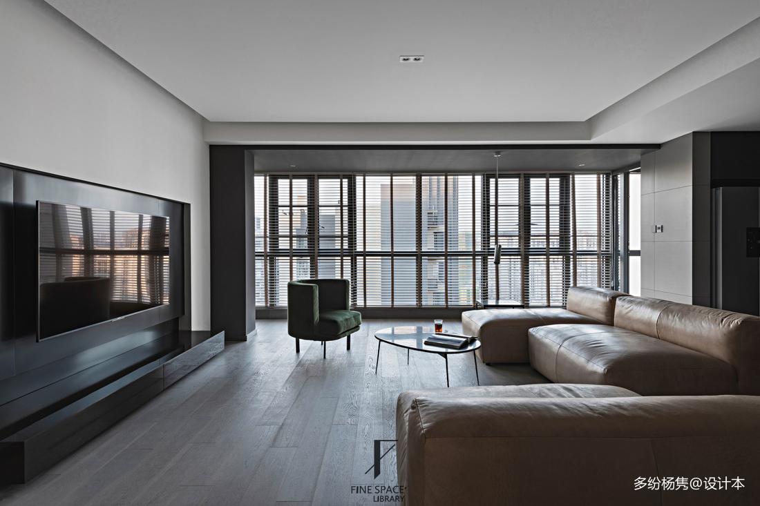 轻奢42平现代复式客厅实拍图