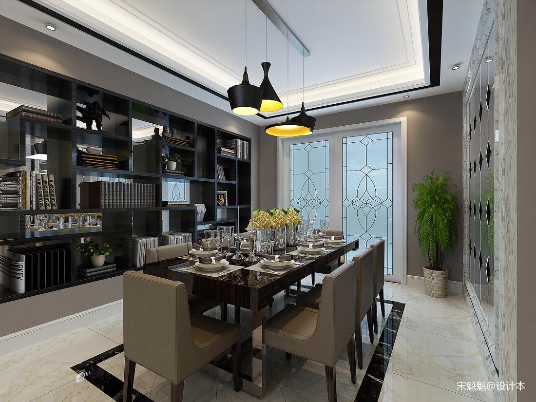 浪漫103平欧式三居餐厅效果图片大全