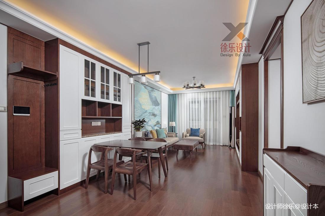 典雅112平中式三居客厅设计美图