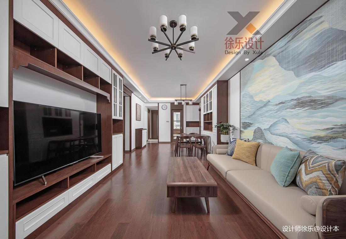 精美81平中式三居客厅装修设计图