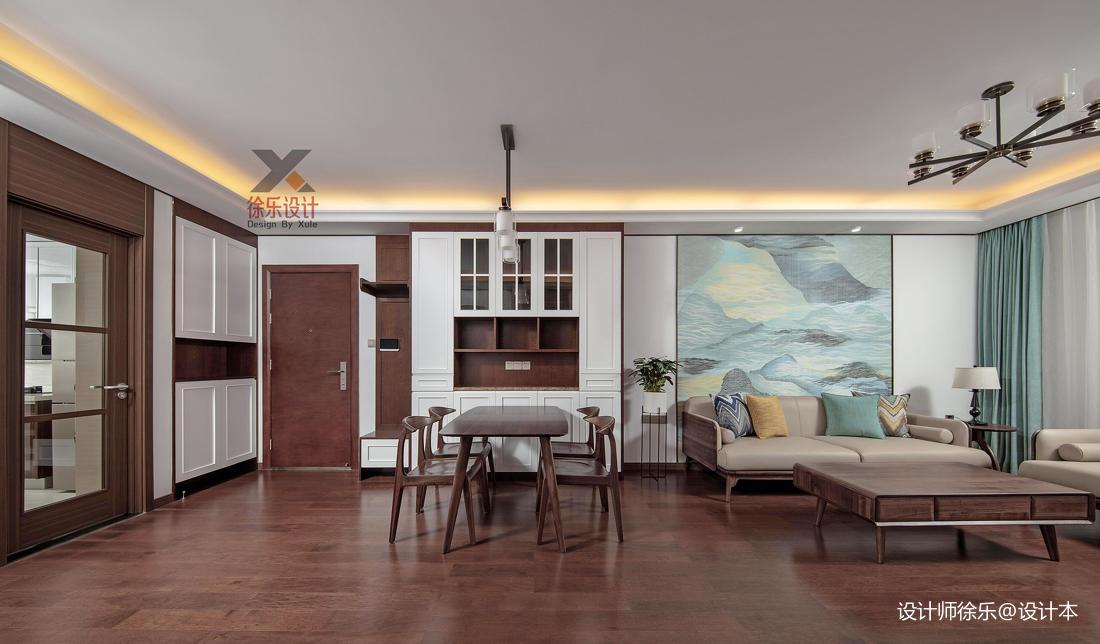 温馨74平中式三居客厅装潢图