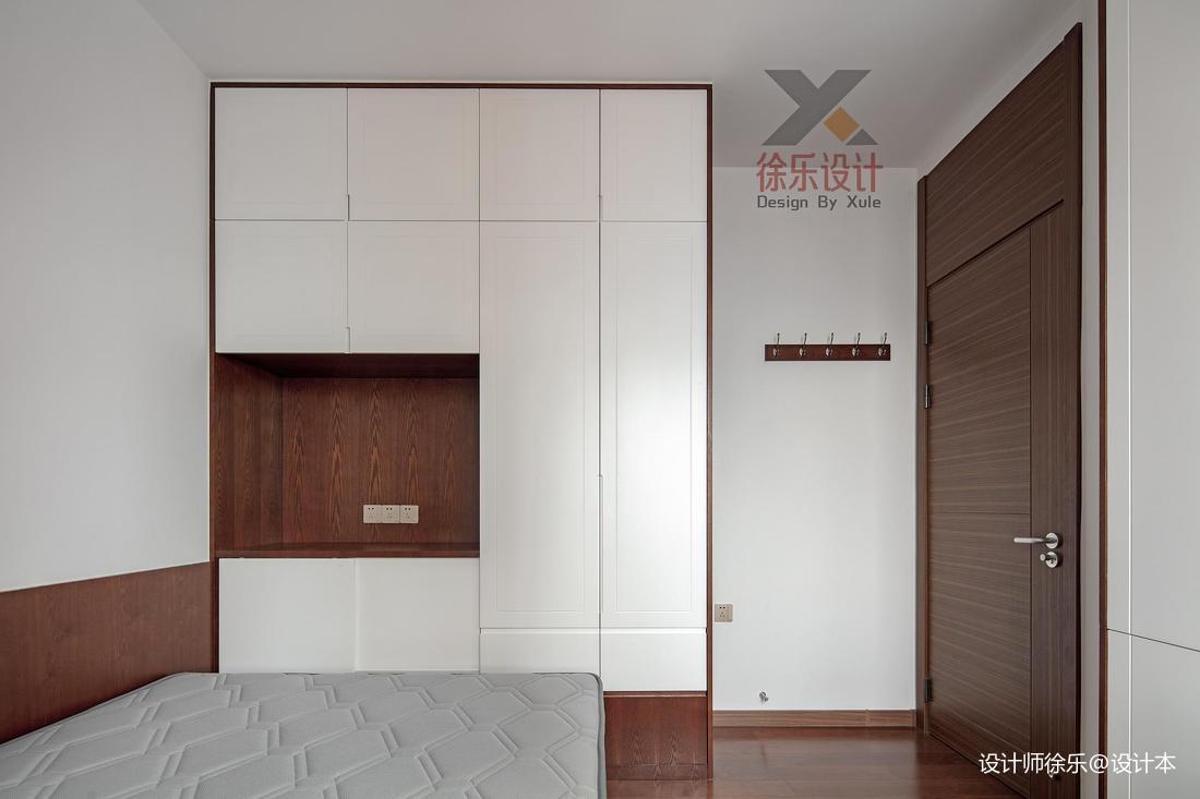 简洁78平中式三居书房装修图