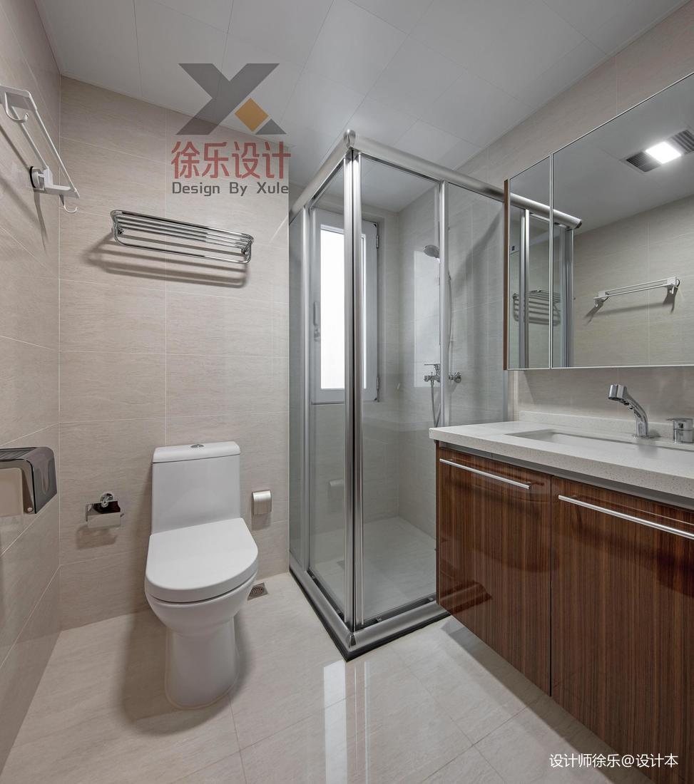 质朴110平中式三居卫生间装修装饰图