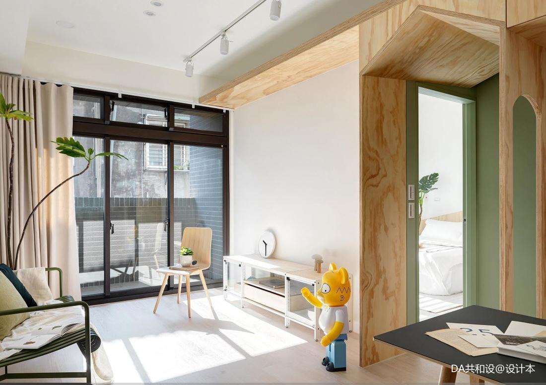 轻奢35平北欧小户型客厅装修效果图