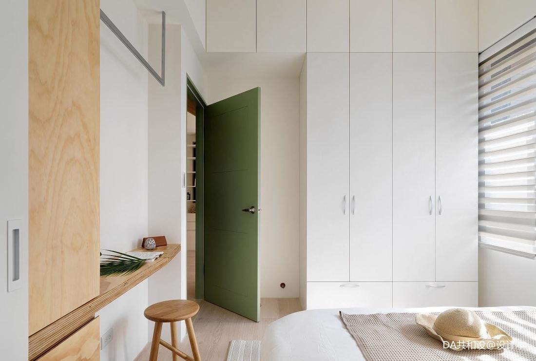 质朴29平北欧小户型卧室实景图