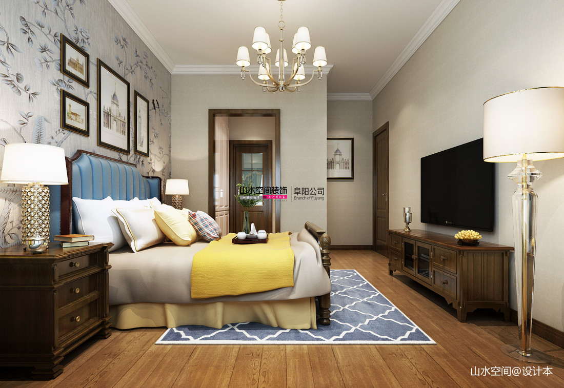 优美88平简约三居卧室装修案例