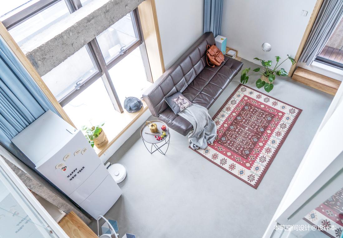 典雅43平LOFT复式客厅效果图