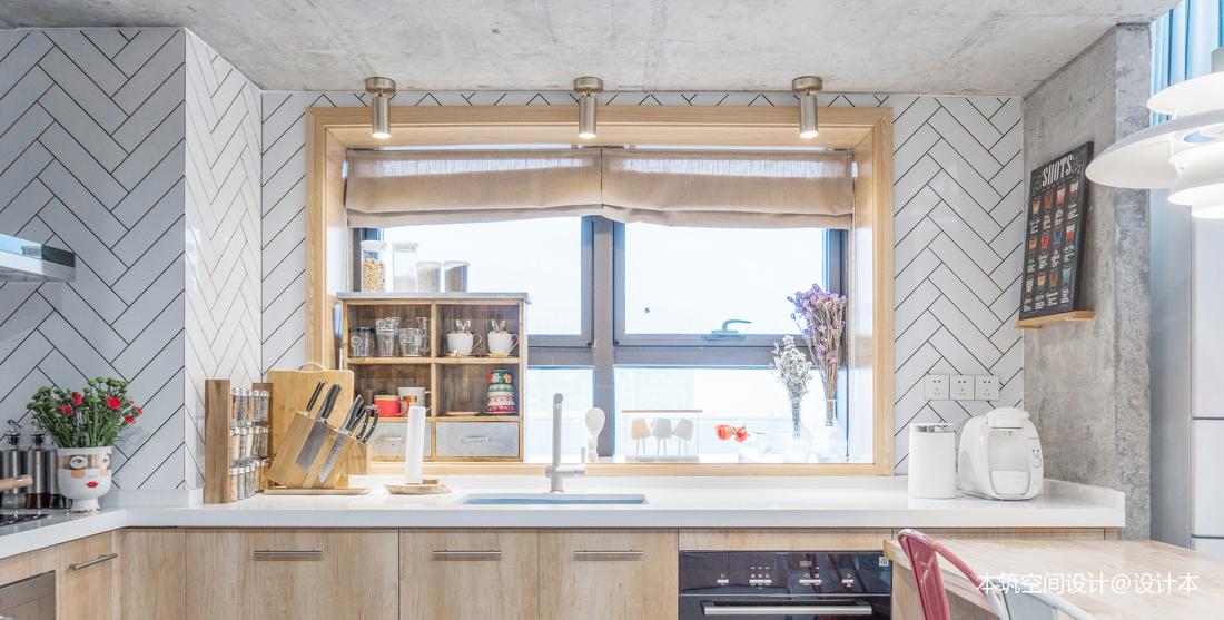 典雅78平LOFT复式厨房装潢图