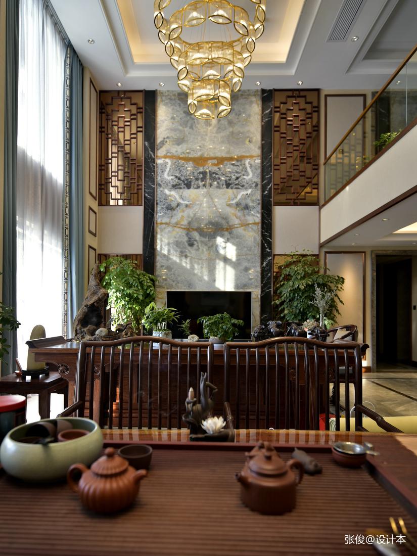 精致81平中式复式客厅效果图欣赏