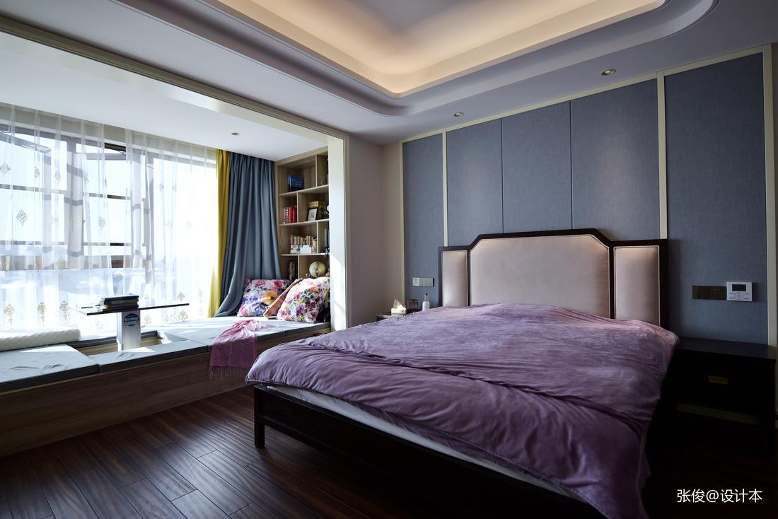 浪漫41平中式复式卧室装修效果图