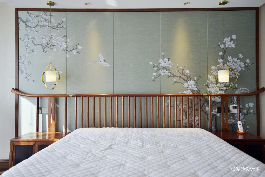 明亮260平中式复式卧室效果图