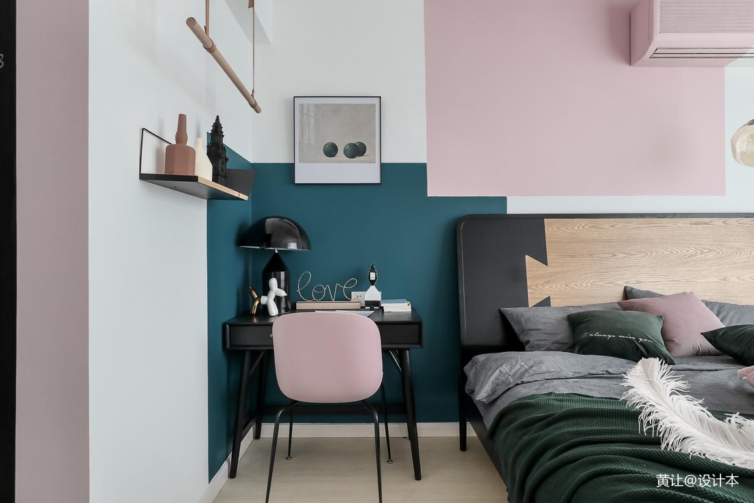 轻奢32平北欧小户型卧室实景图片
