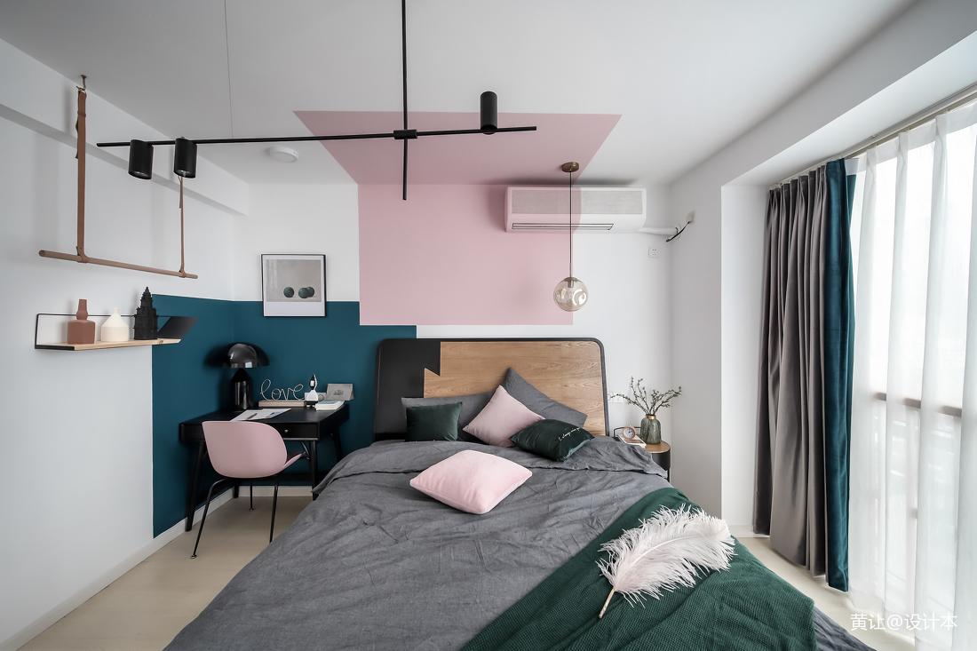 优雅23平北欧小户型卧室设计效果图