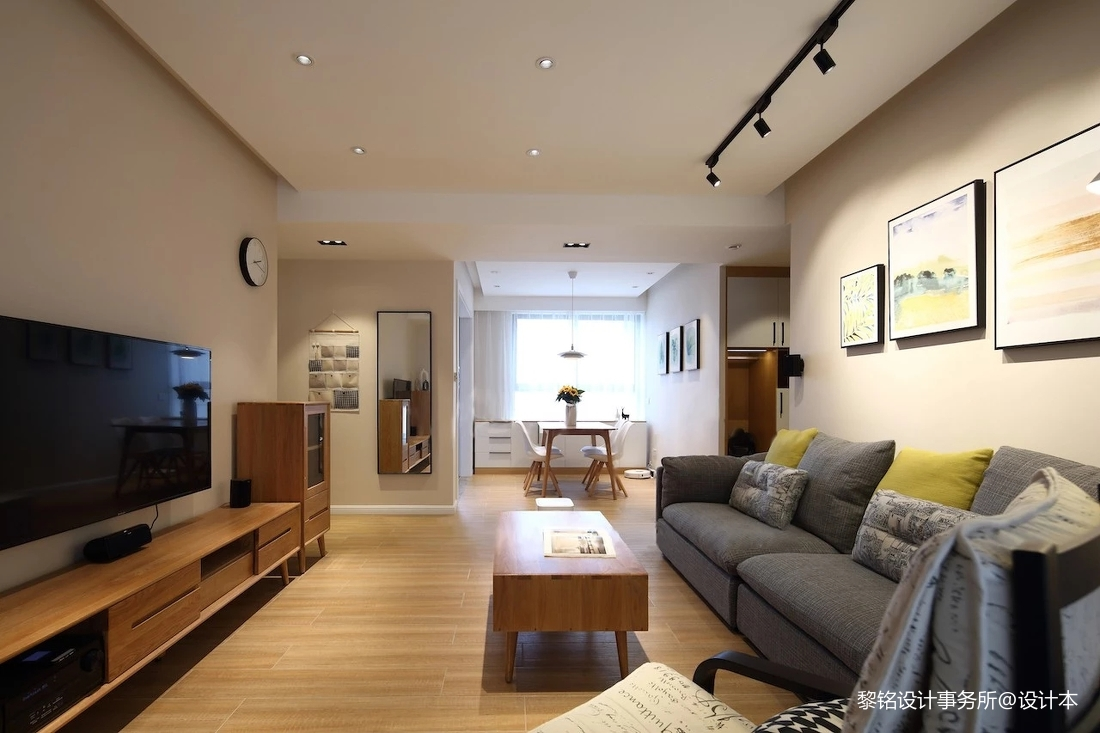 优美105平北欧三居客厅装饰美图