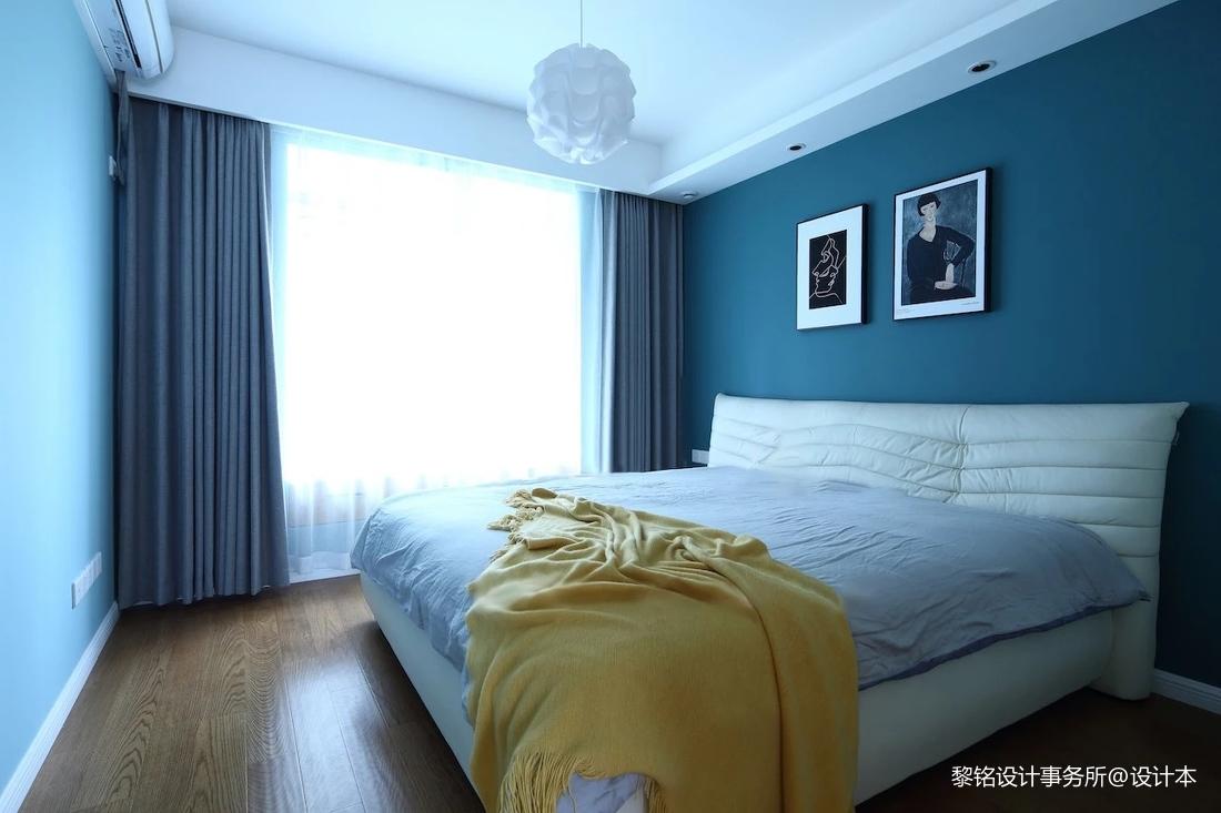 简洁97平北欧三居卧室实景图片
