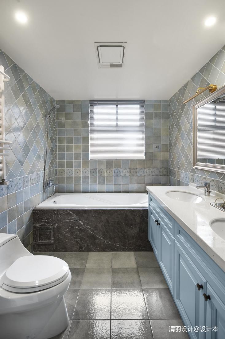 简洁120平现代四居卫生间装修图片