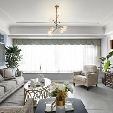明亮90平现代四居客厅设计效果图