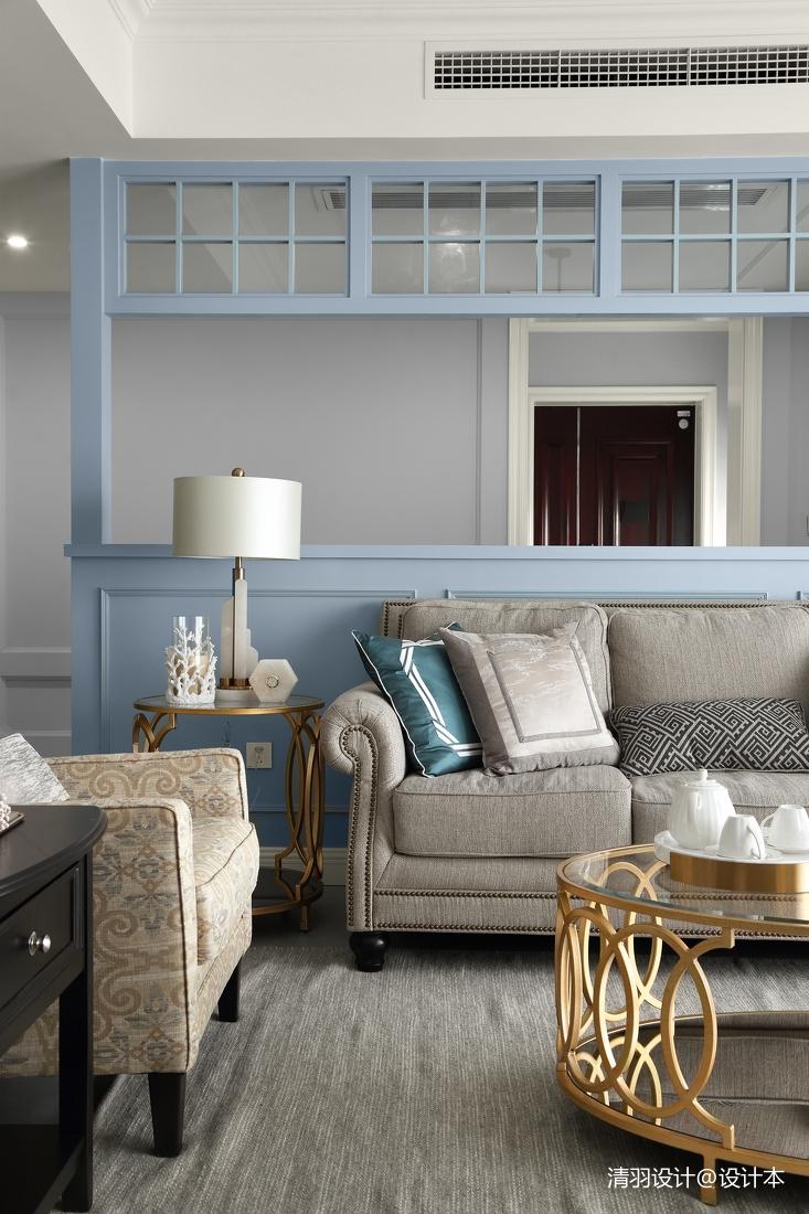简洁99平现代四居客厅图片欣赏