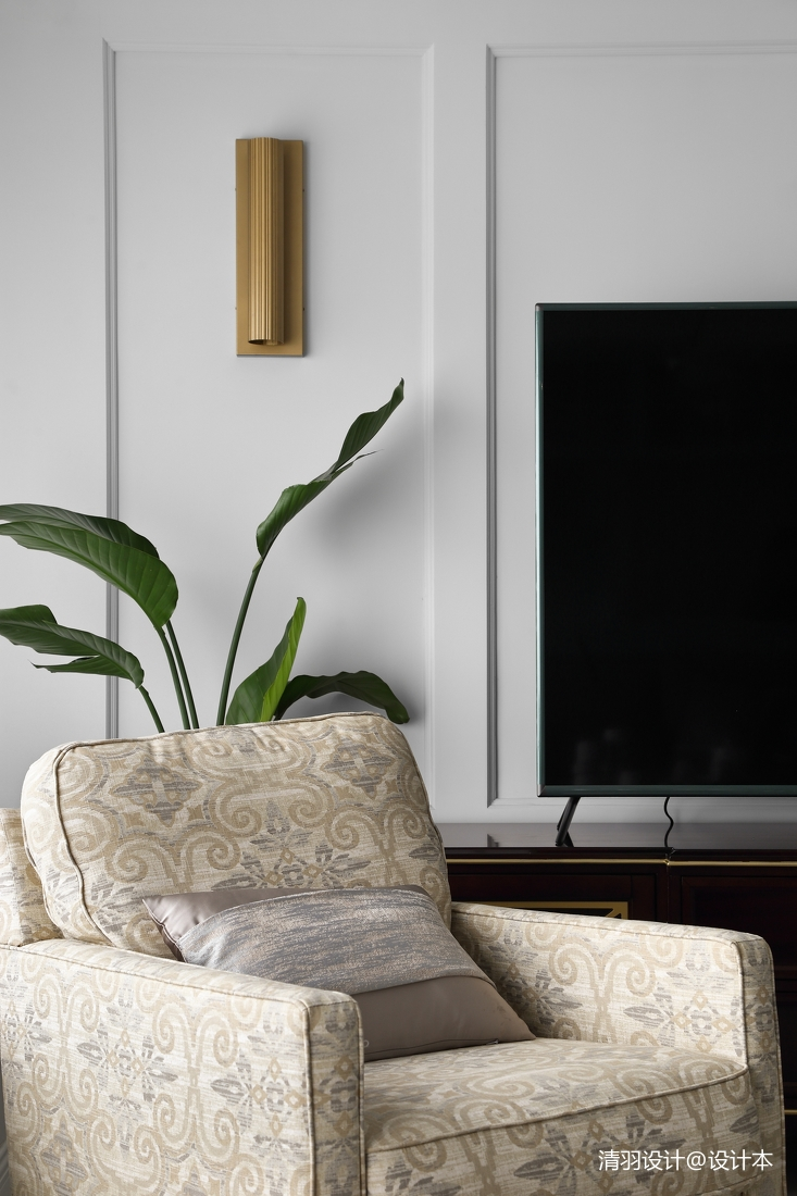 温馨139平现代四居客厅布置图