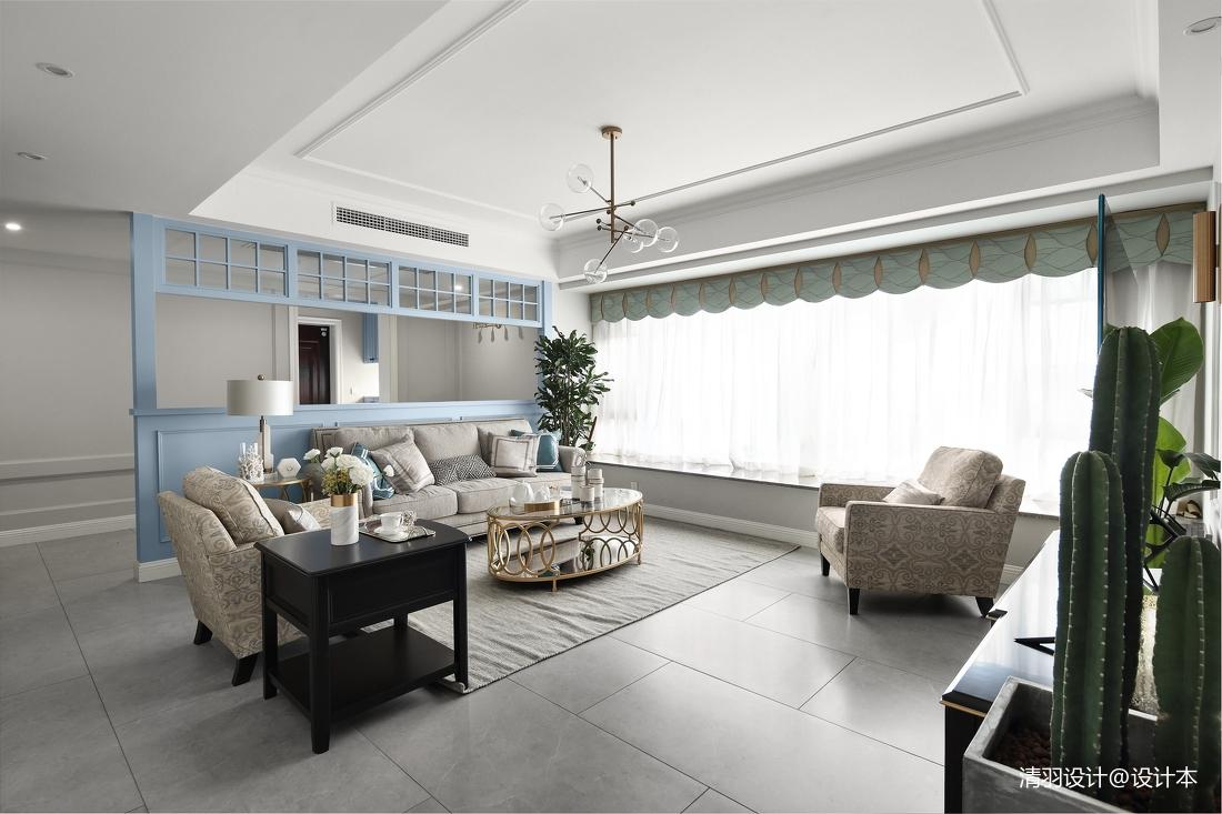 优美92平现代四居客厅装修效果图