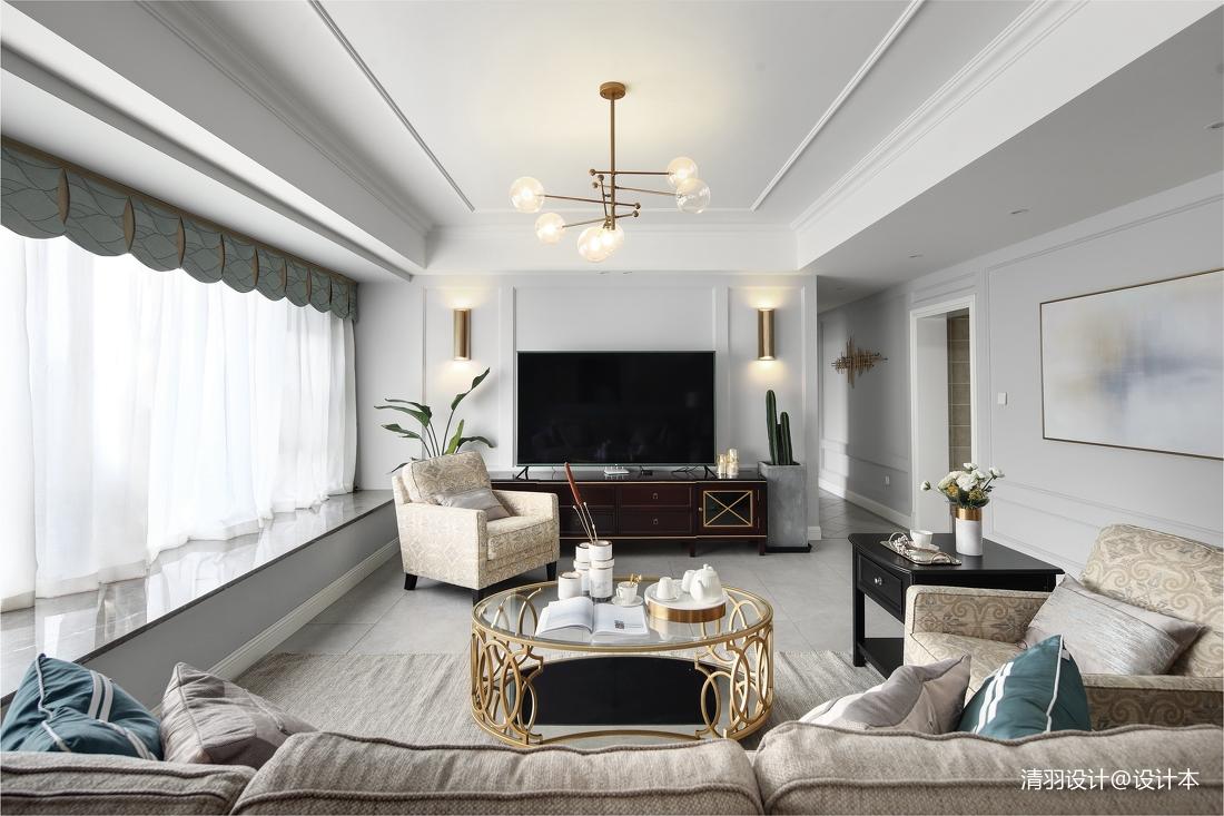 大气129平现代四居客厅美图