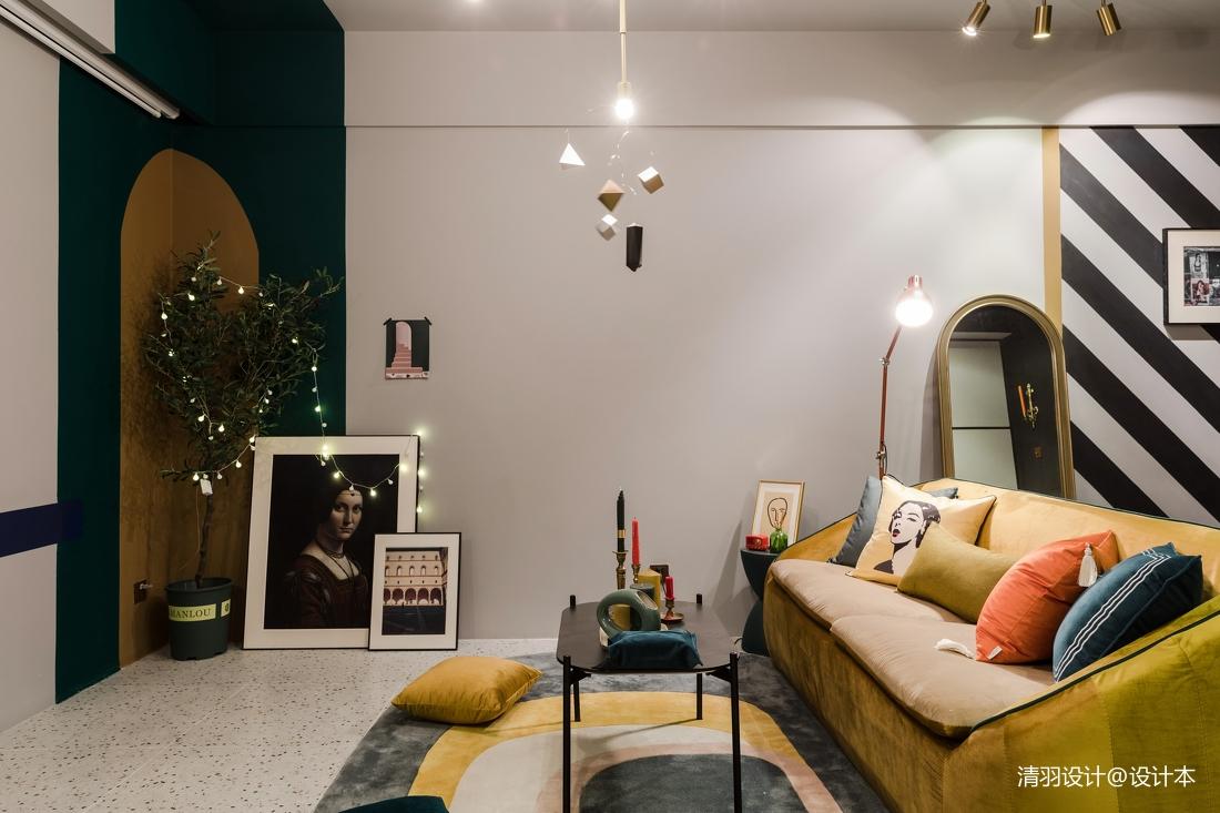 多彩混搭风客厅沙发图片
