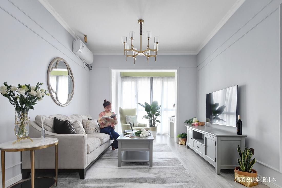 优美80平现代二居客厅装修设计图