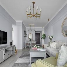 典雅68平现代二居客厅设计案例