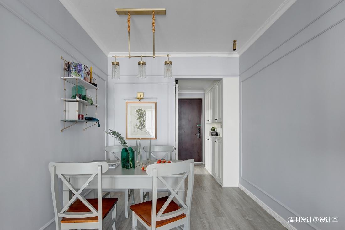 温馨60平现代二居餐厅布置图
