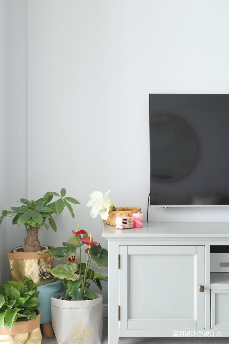 优雅65平现代二居客厅设计效果图
