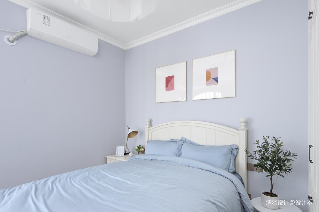 轻奢76平现代二居卧室装饰美图