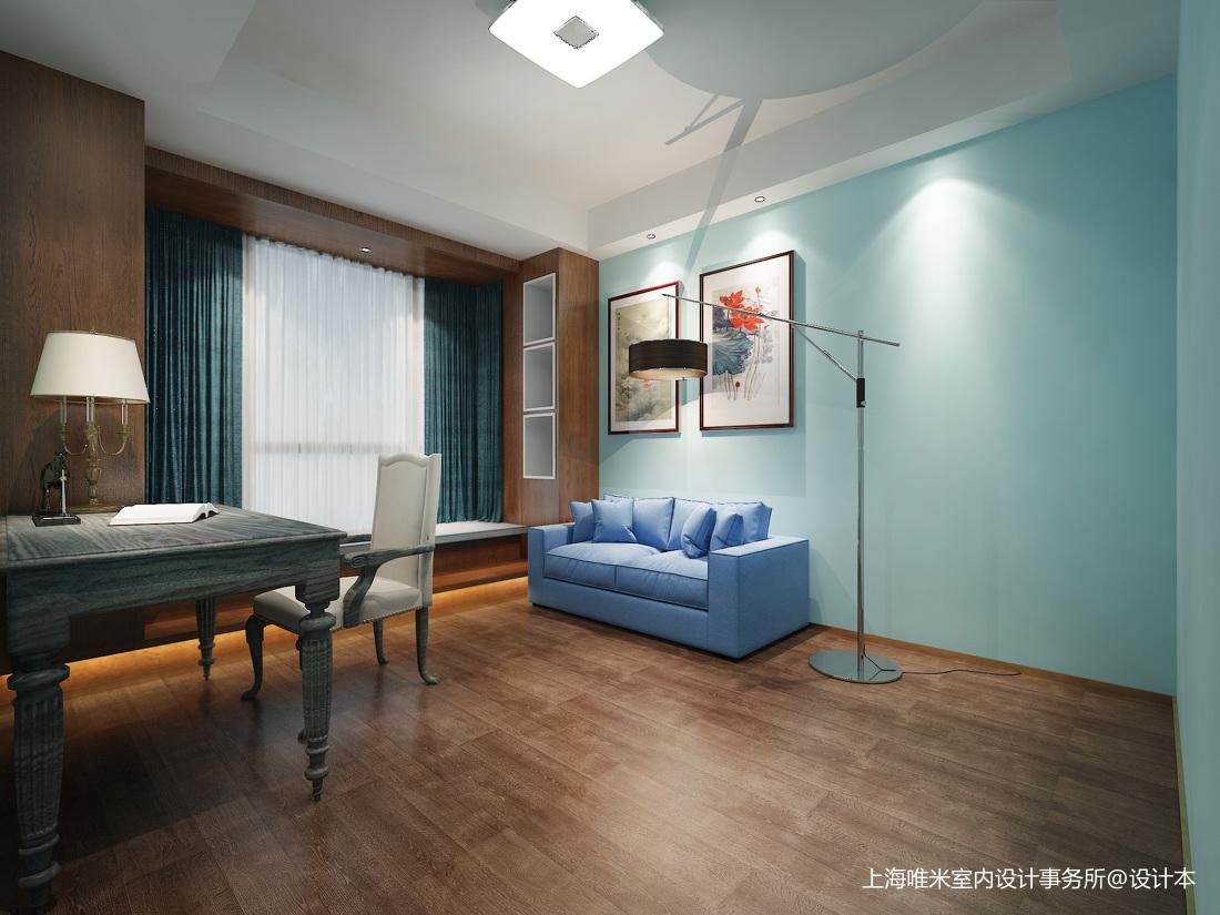 质朴108平欧式三居书房装修效果图