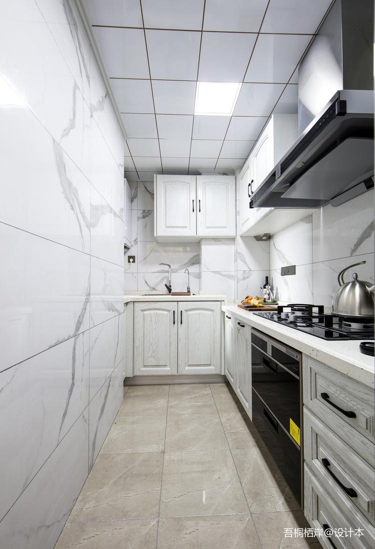 华丽56平美式二居厨房装修图