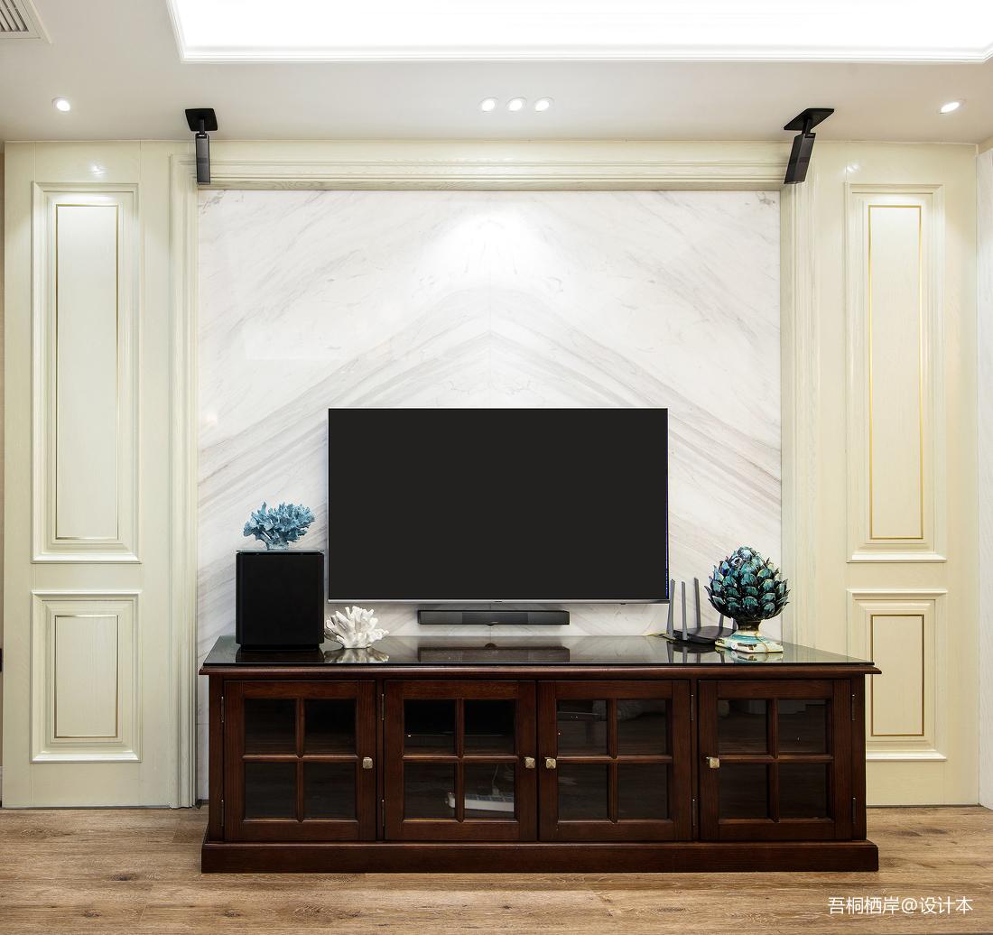 明亮71平美式二居客厅实景图