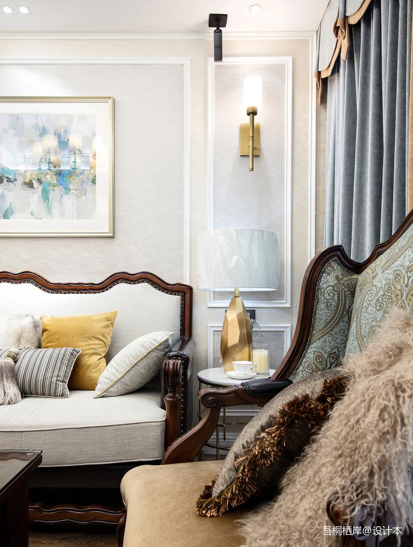 优美68平美式二居客厅设计案例
