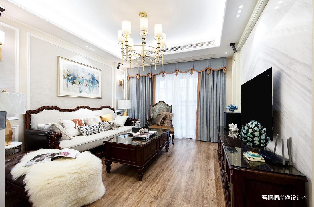 勾勒幸福美式客厅设计图