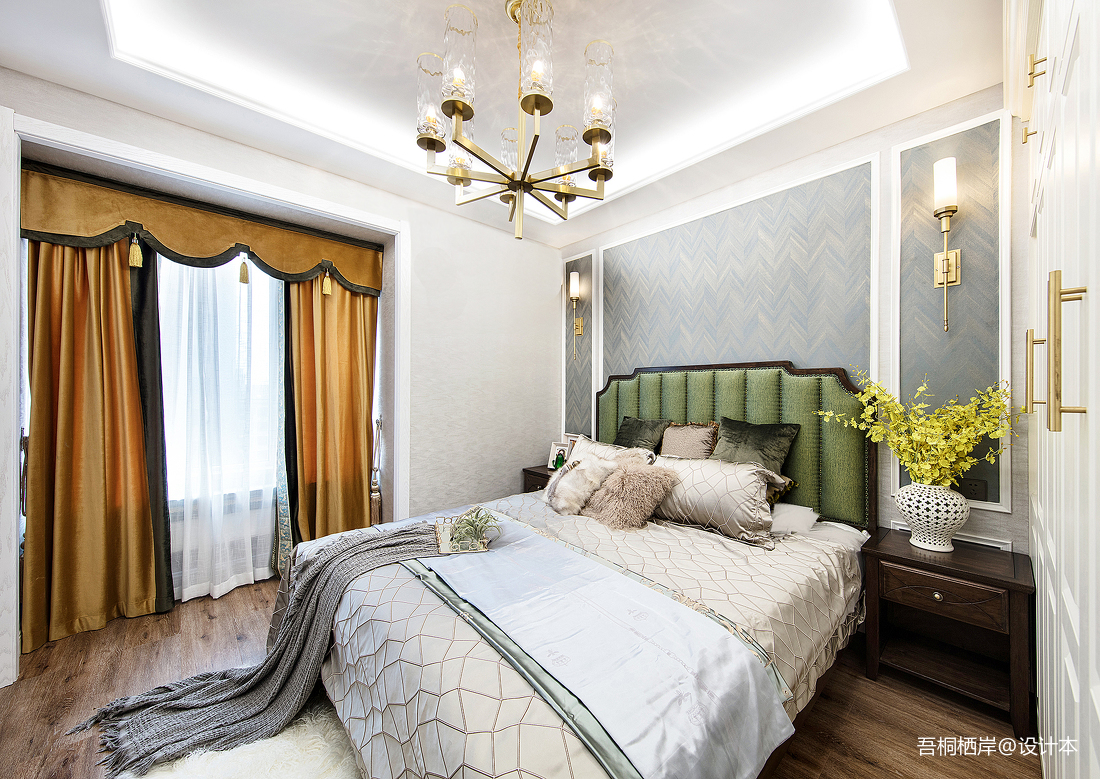 勾勒幸福美式主卧室设计图