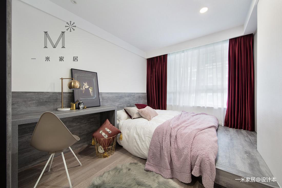 145㎡现代风二居卧室设计图