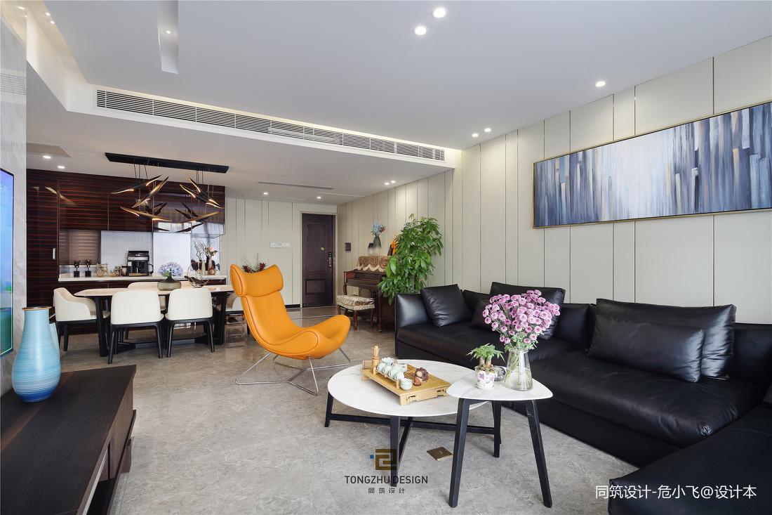 清幽现代客厅实景图片