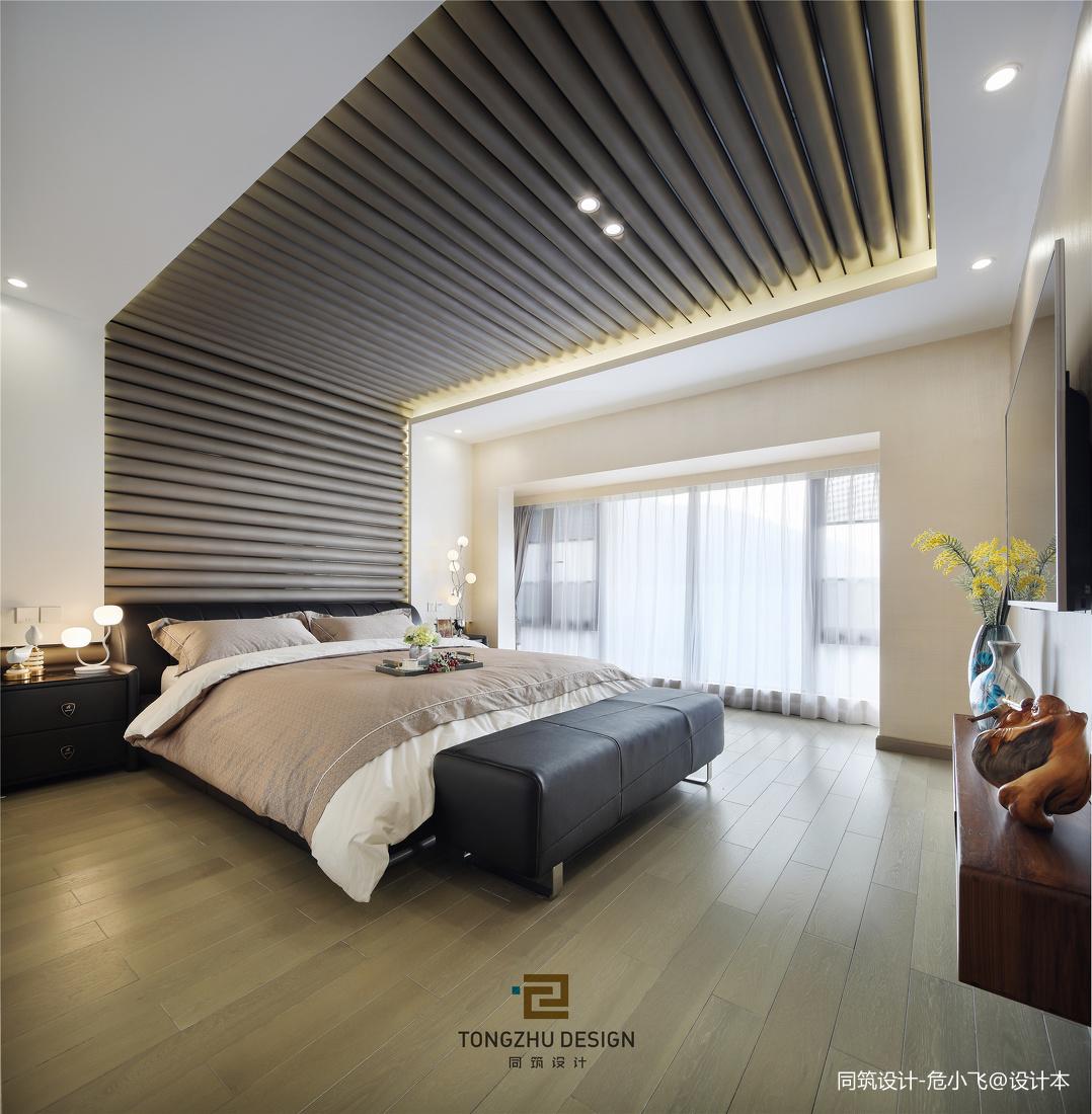 清幽现代卧室实景图片