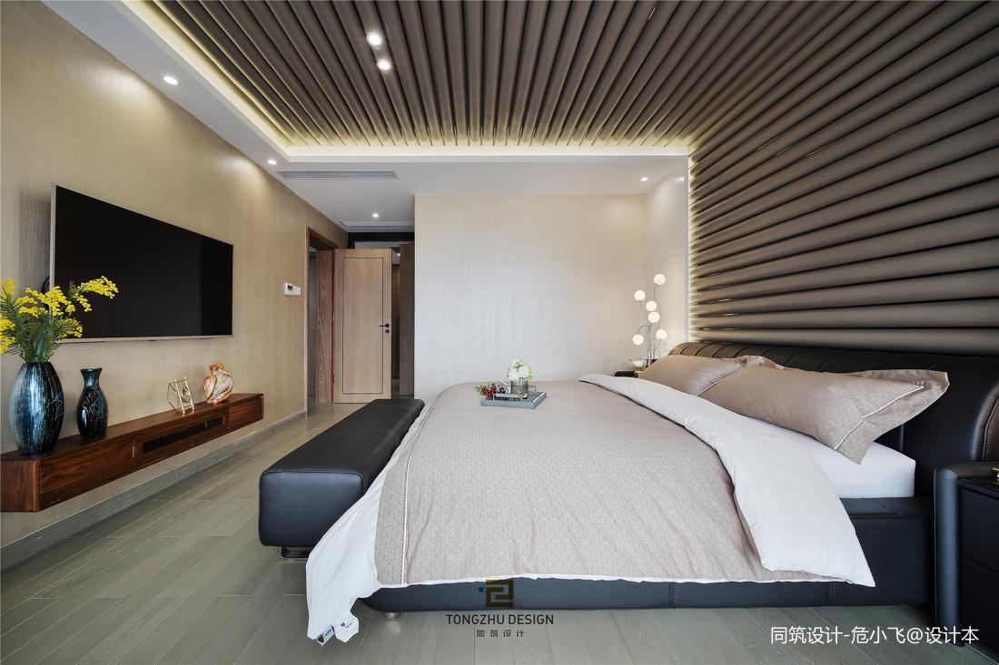清幽现代次卧室实景图片