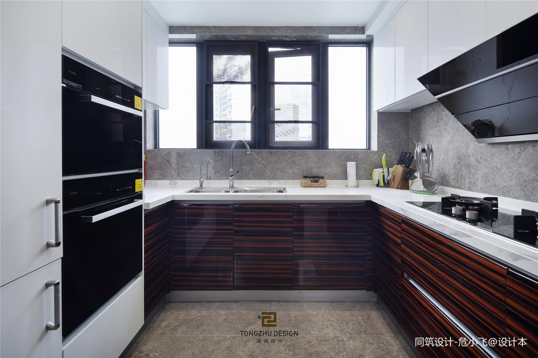 清幽现代厨房实景图片