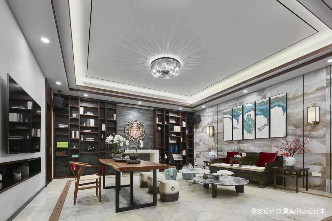 600㎡ 新中式别墅休闲区实景图